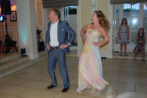 Fun wedding dance couple
